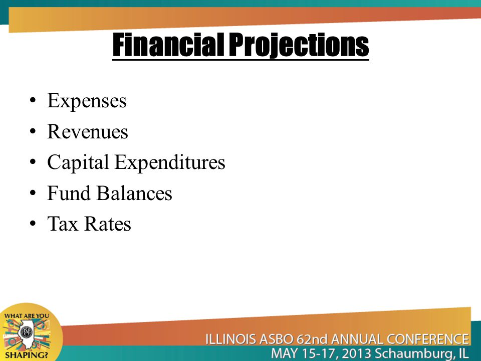 Financial Projections Expenses Revenues Capital Expenditures Fund Balances Tax Rates 1