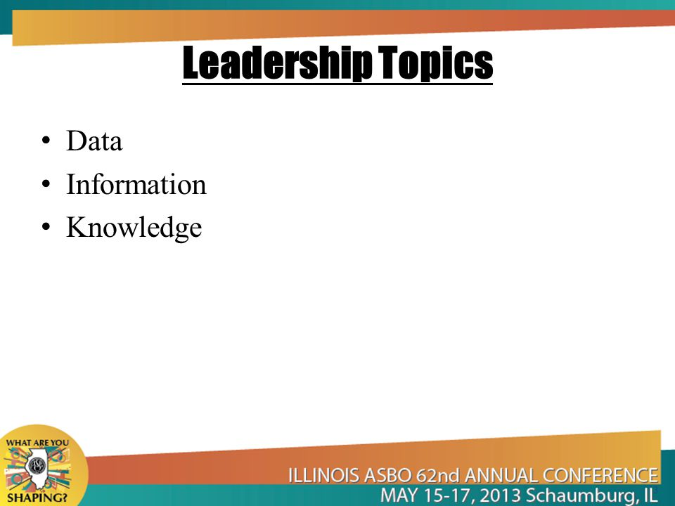 Leadership Topics Data: Last year's budget was $100M. 4