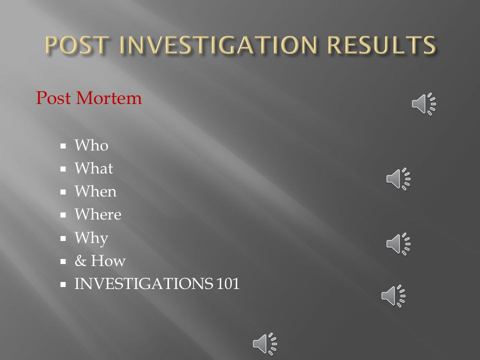  We need to :  Conduct an effective and serious post mortem.
