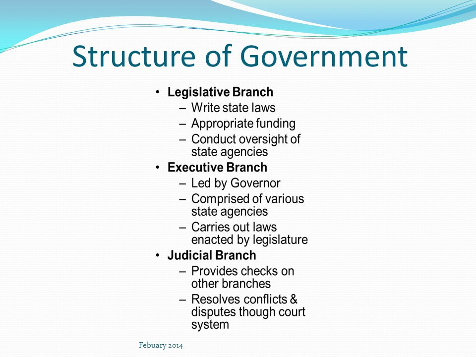 Structure of Government Febuary 2014