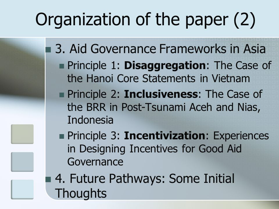 Organization of the paper (2) 3.