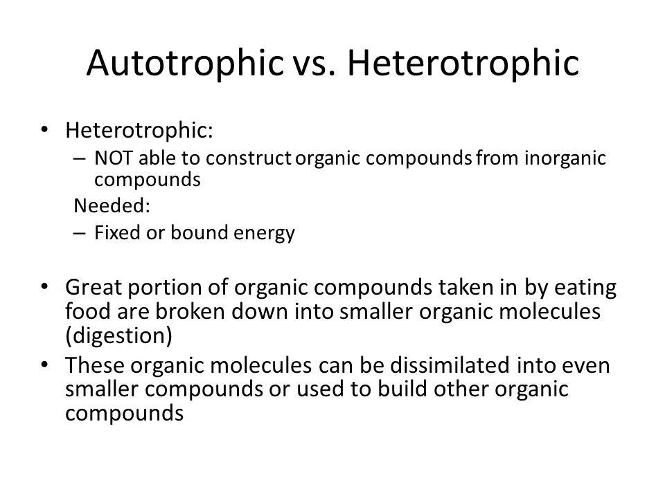 Autotrophic vs.