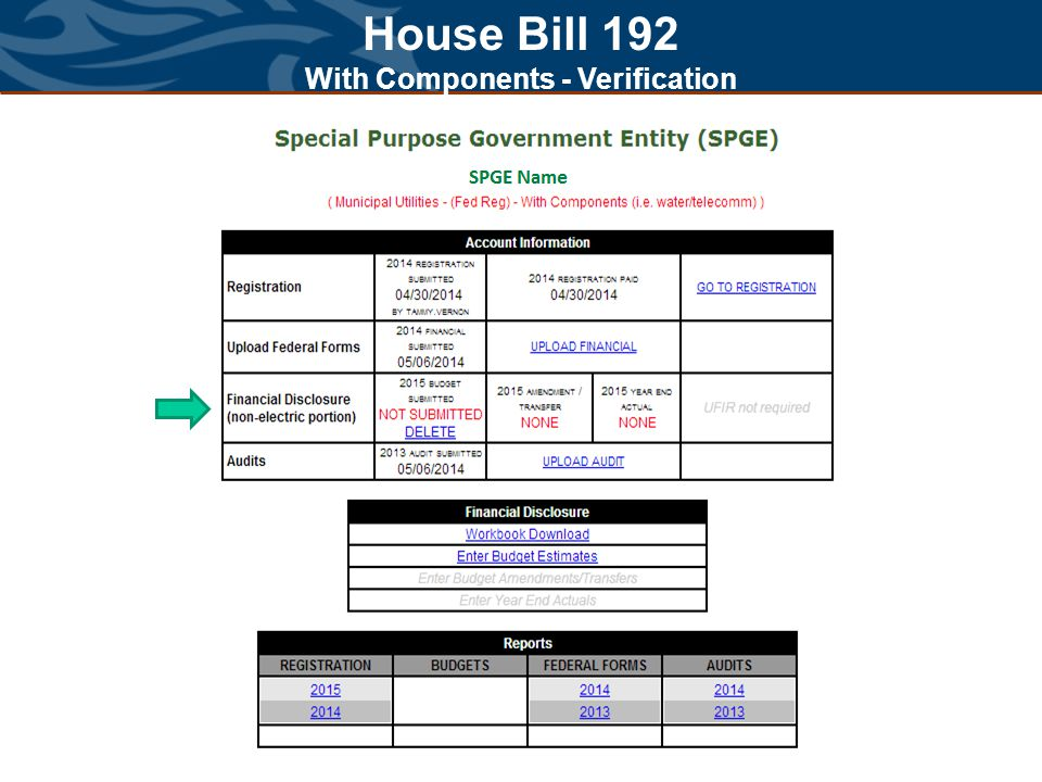 House Bill 192 With Components - Verification