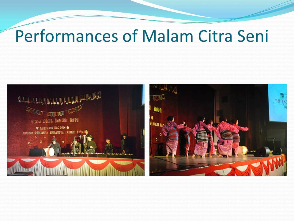 Performances of Malam Citra Seni