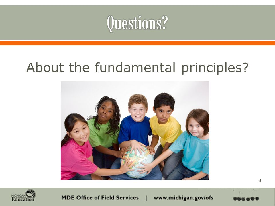 About the fundamental principles 6