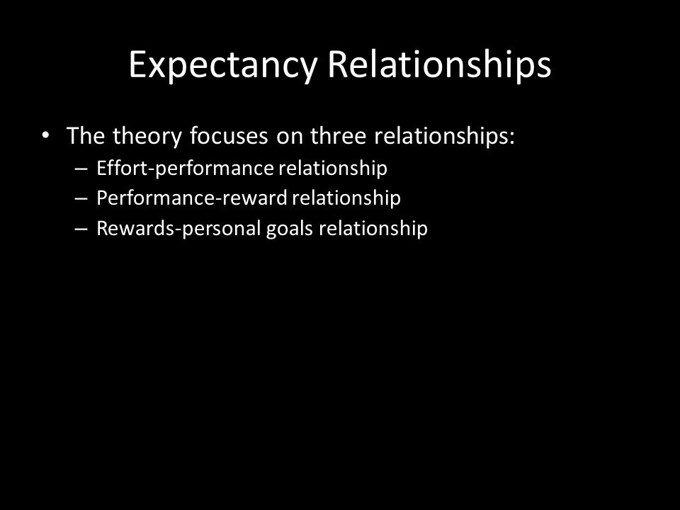Expectancy Theory The theory that individuals act depending on whether their effort will lead to good performance, whether good performance will be fo