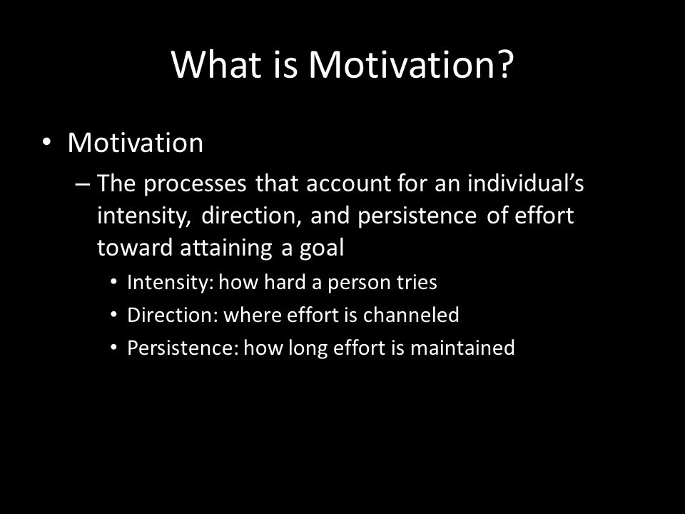 Motivating Self and Others 1. What is motivation? 2. How do needs motivate people? 3. Are there other ways to motivate people? 4. Do equity and fairne