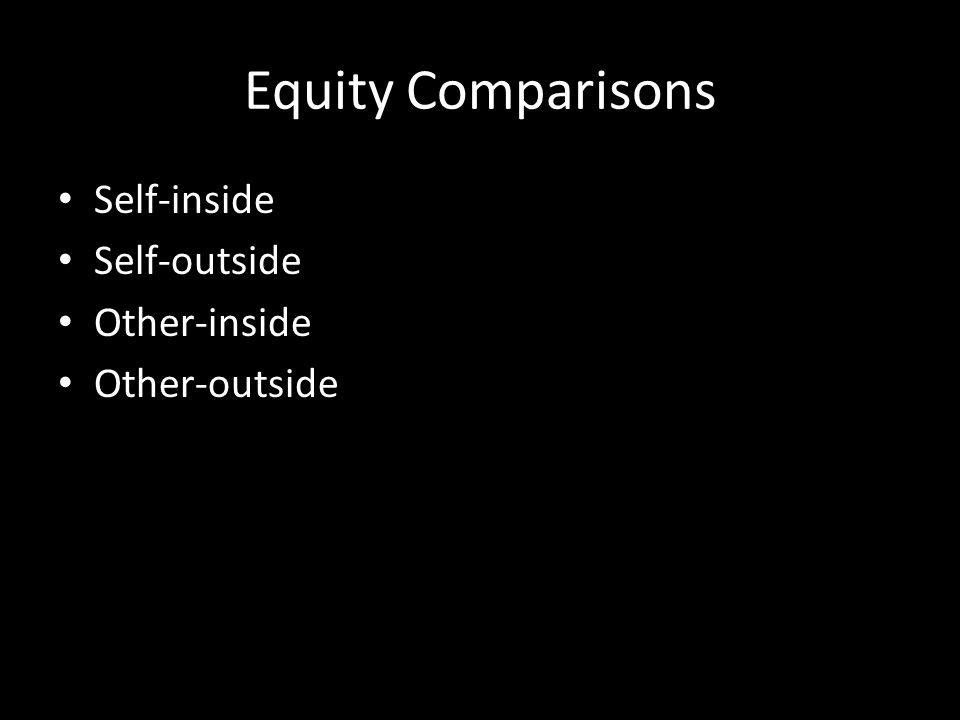 Exhibit 4-7 Equity Theory Person 1 Inequity, underrewarded Equity Inequity, overrewarded Ratio of Output to InputPerson 1's Perception Person 2 Person