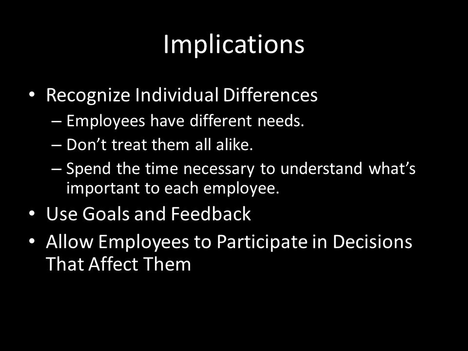Summary Equity Theory – Strongest when predicting absence and turnover behaviours. – Weakest when predicting differences in employee productivity. Cog