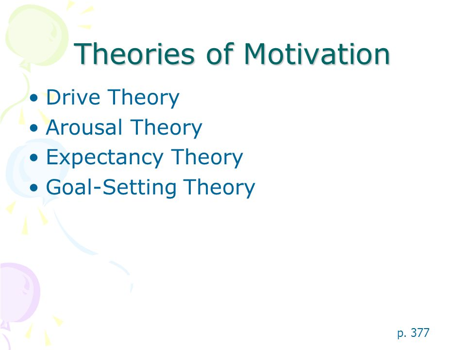Motivation Physiological Hunger Sexual motivation Cognitive Expectancy Self-fulfillment