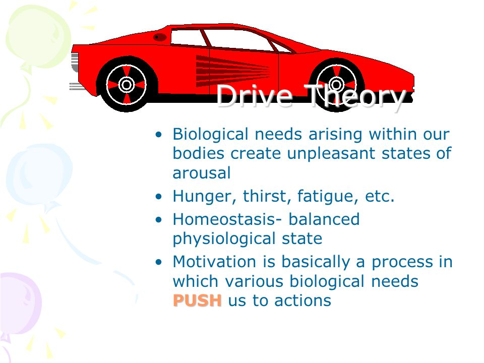 Theories of Motivation Drive Theory Arousal Theory Expectancy Theory Goal-Setting Theory p. 377