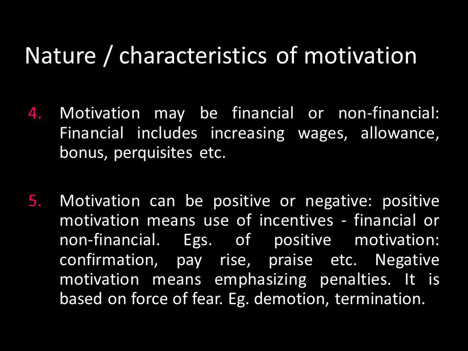Herzberg's Motivation-Hygiene Theory Hygiene factors - necessary, but not sufficient, for healthy adjustment – Extrinsic factors; context of work Company policy and administration Unhappy relationship with employee s supervisor Poor interpersonal relations with one s peers Poor working conditions