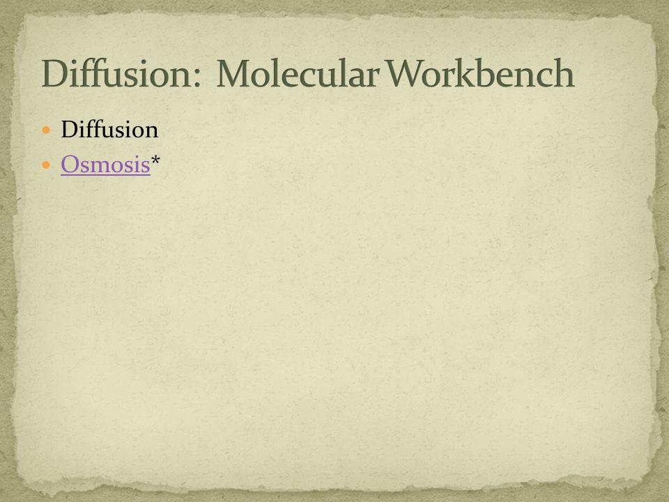 Diffusion Osmosis* Osmosis