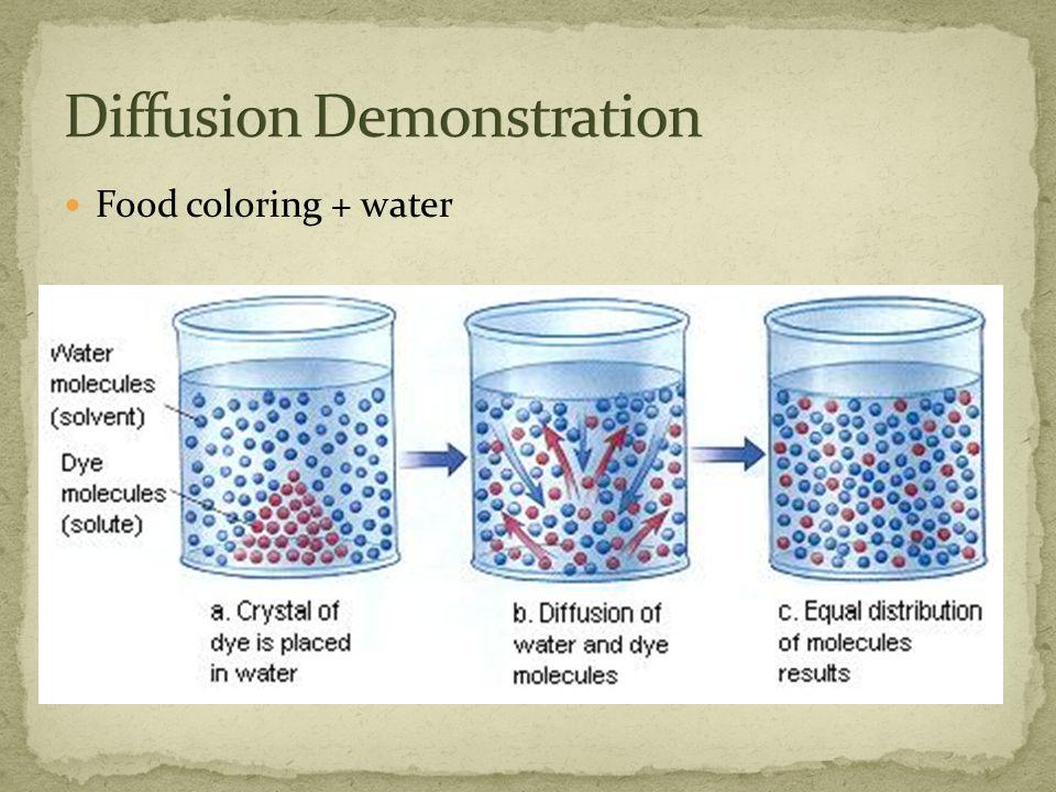 Food coloring + water