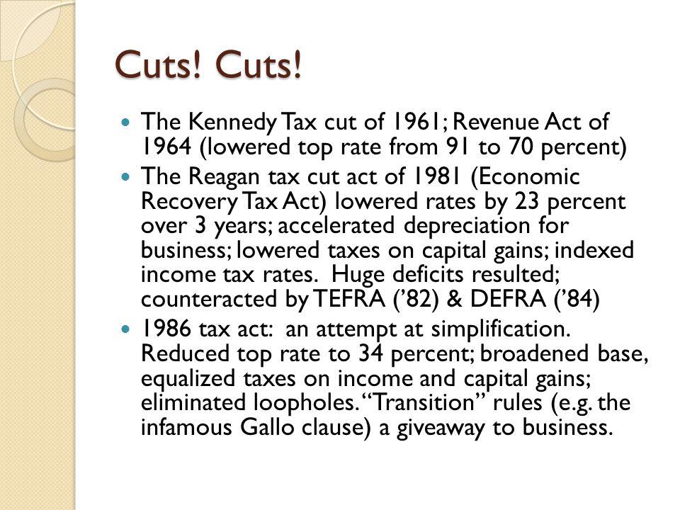 Cuts. Cuts.