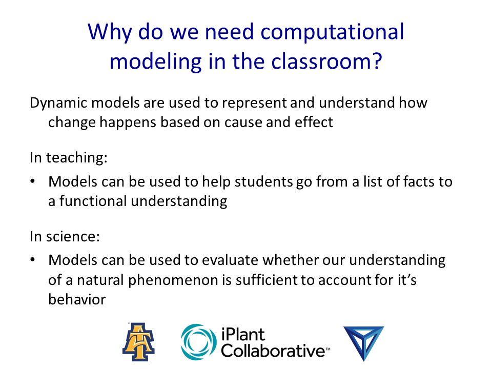 Why do we need computational modeling in the classroom.