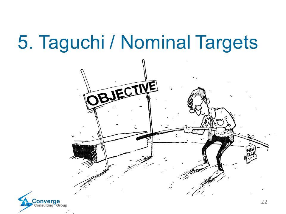 22 5. Taguchi / Nominal Targets