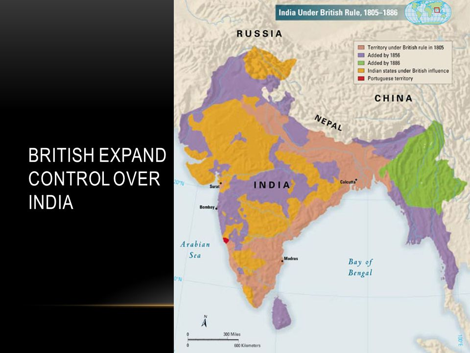 British East India Company rules India until the 1850s.
