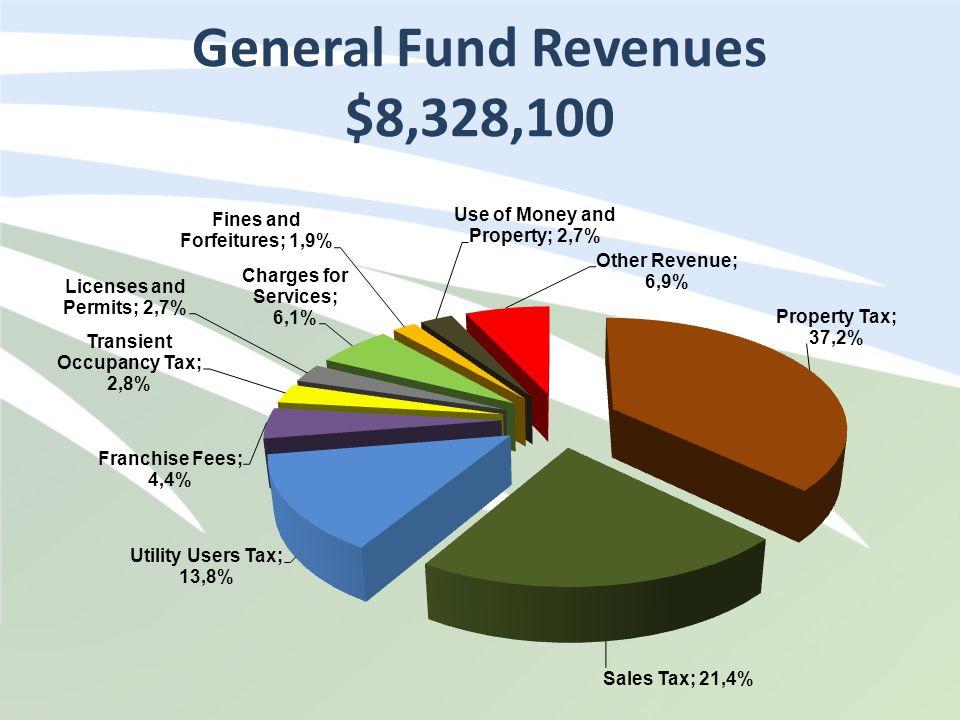 General Fund Revenues $8,328,100