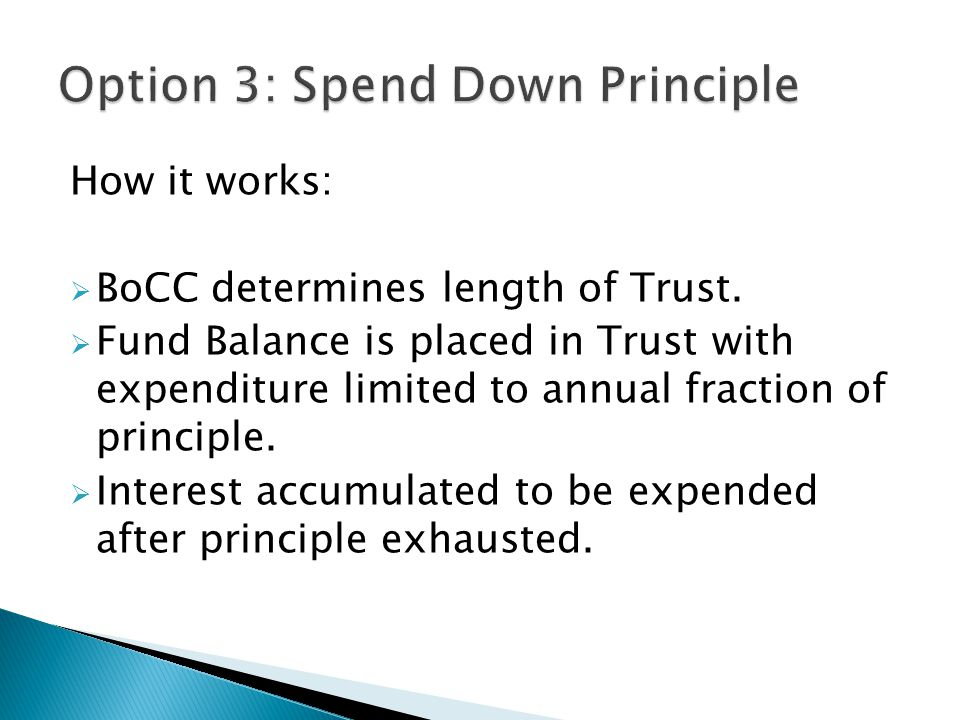 How it works:  BoCC determines length of Trust.