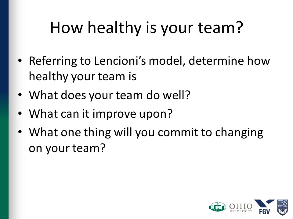 How healthy is your team.