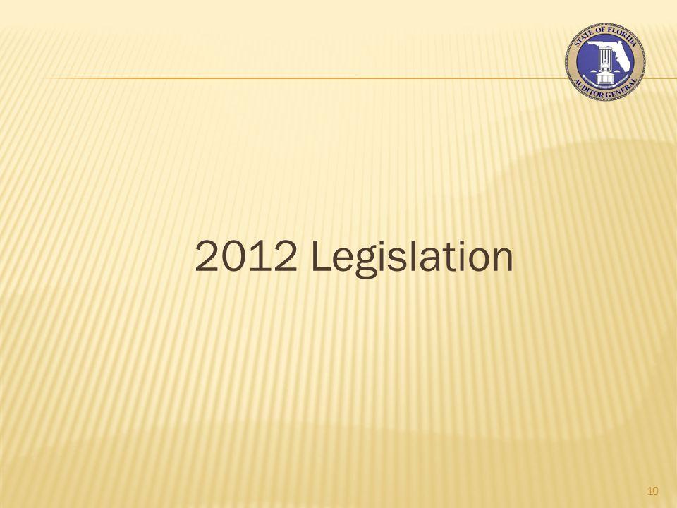 2012 Legislation 10