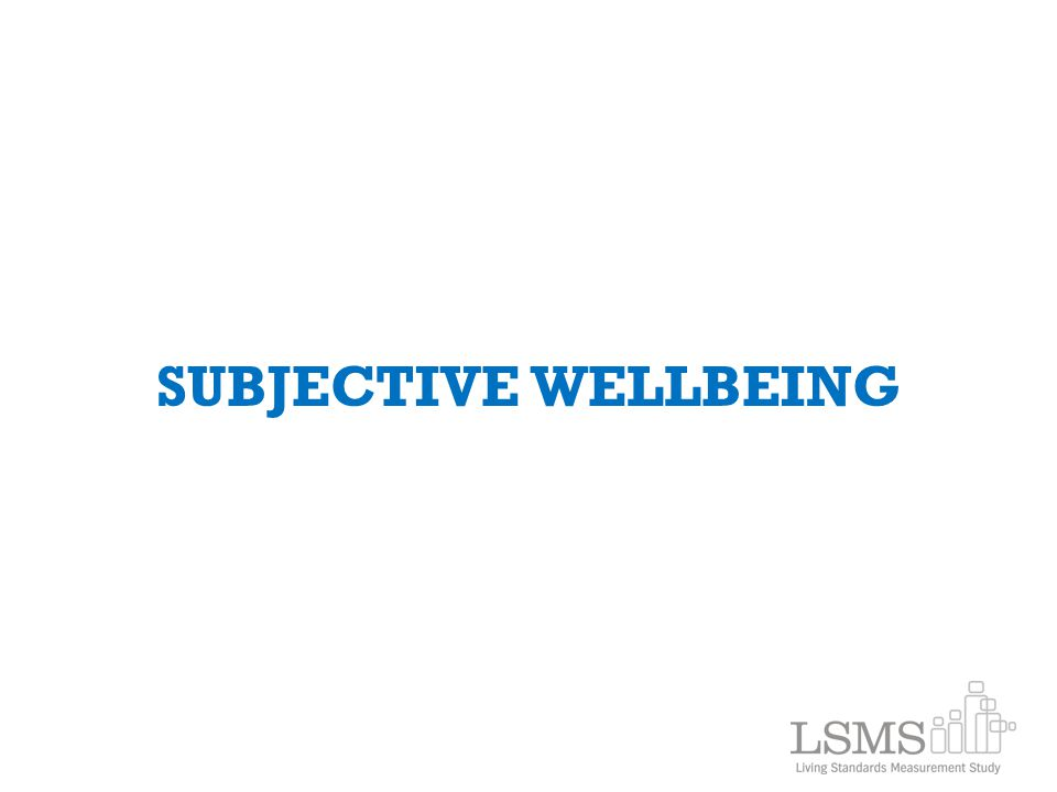 SUBJECTIVE WELLBEING