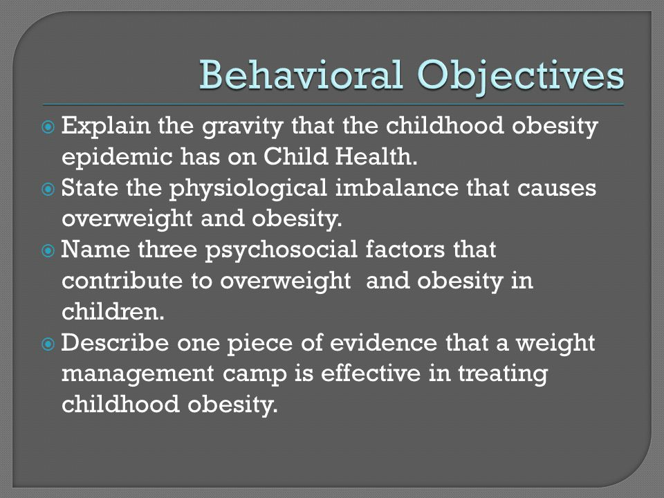 Aim: To develop and test the feasibility and acceptability of HOME program, a pilot childhood obesity prevention program aimed at increasing quality foods in the home environment and during family meals Results:  86% of families attended at least four of the five sessions  Parents and children were very satisfied with the program  Children significantly more likely to report improved food preparation skill  Trends suggesting that intervention children had higher consumption of fruits & vegetables, ↑ intake of key nutrients (Fulkerson et al., 2010)