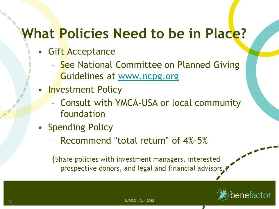 What Policies Need to be in Place.