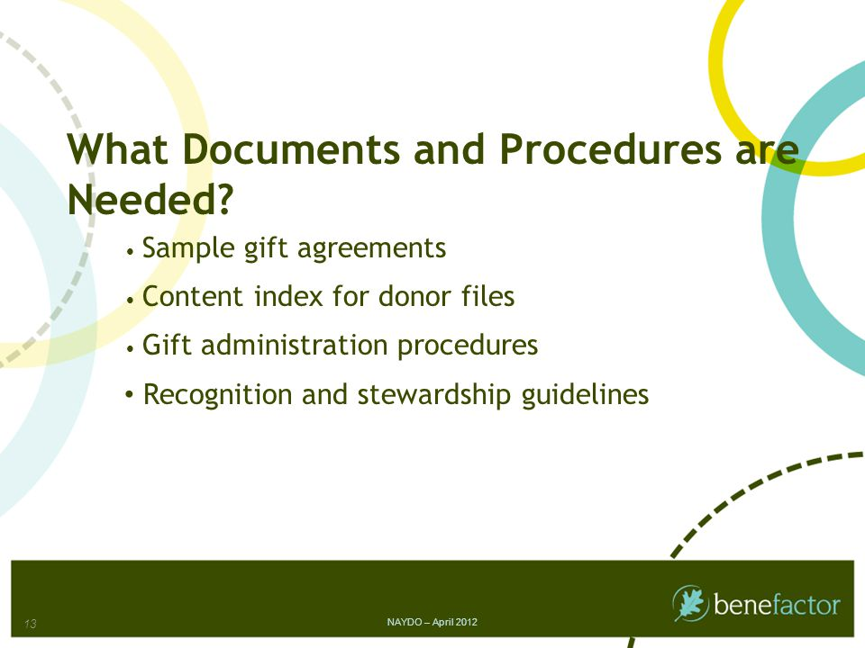 What Documents and Procedures are Needed.