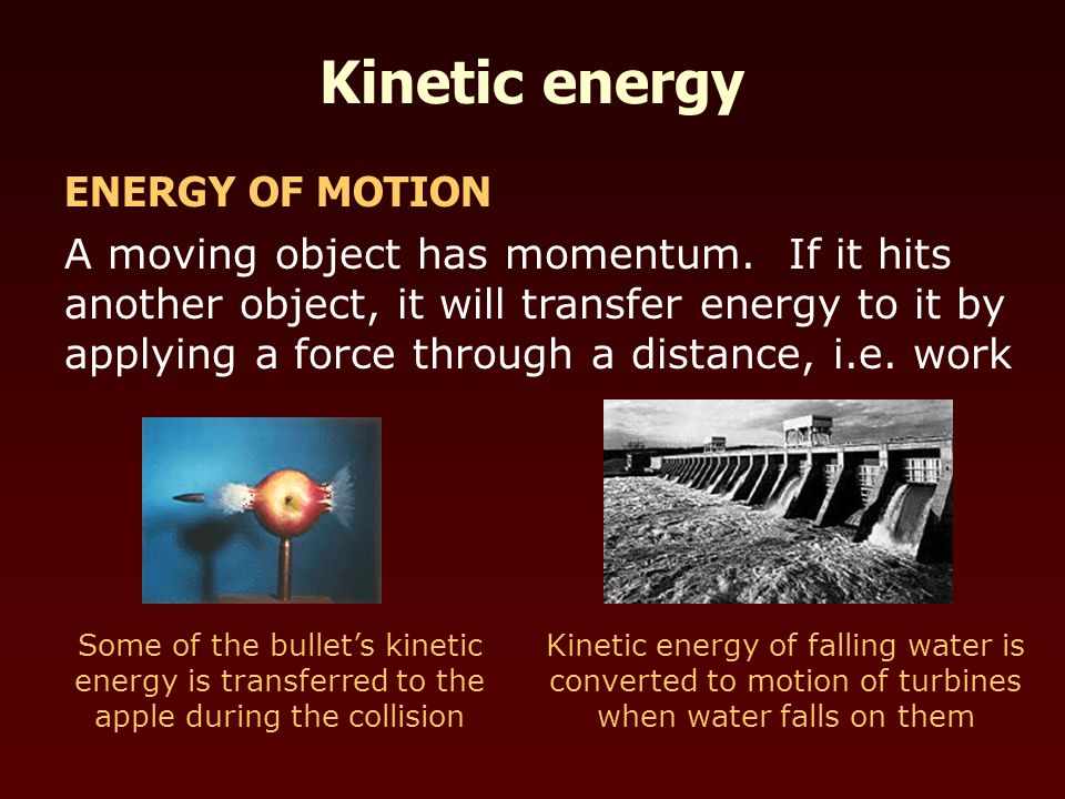 A moving object has momentum.