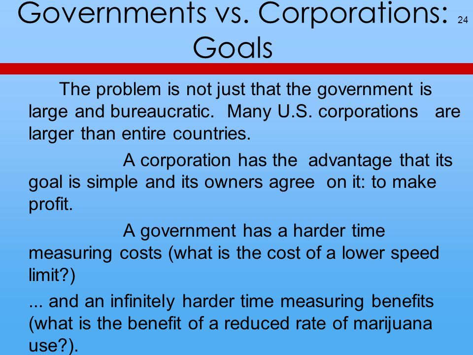 Governments vs.