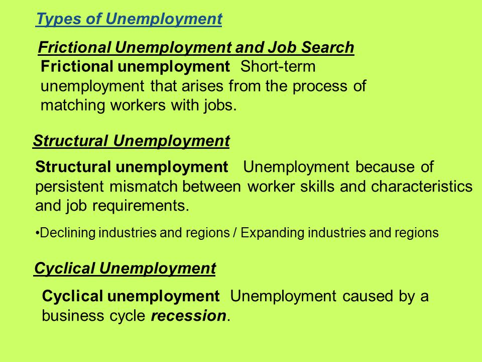 Frictional Unemployment and Job Search Frictional unemployment Short-term unemployment that arises from the process of matching workers with jobs.