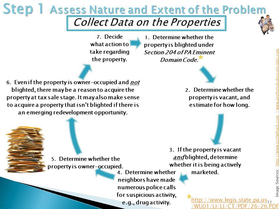 11 Image Sources: http://www.techwhack.com ; www.preferredsalesconcepts.comhttp://www.techwhack.comwww.preferredsalesconcepts.com Step 1 Assess Nature and Extent of the Problem http://www.legis.state.pa.us /WU01/LI/LI/CT/PDF/26/26.PDF * 1.