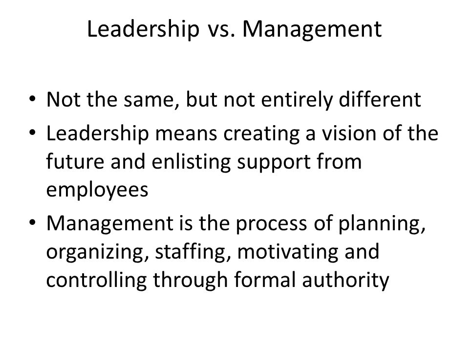 Leadership vs.