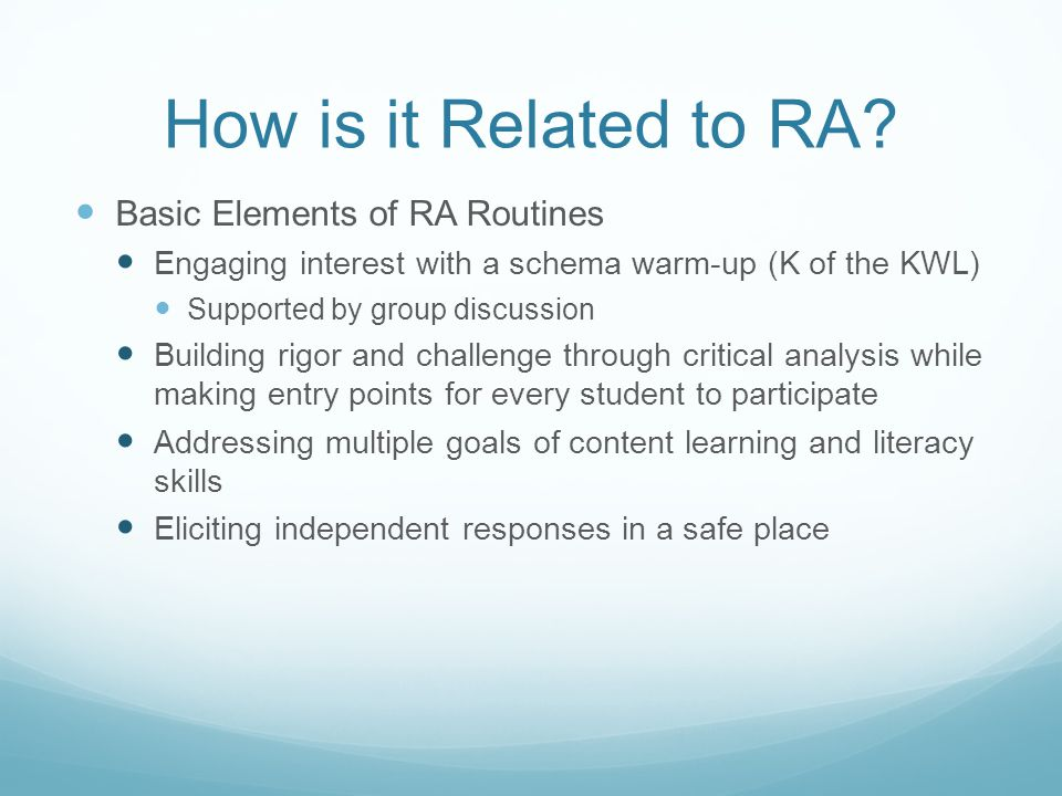 How is it Related to RA.