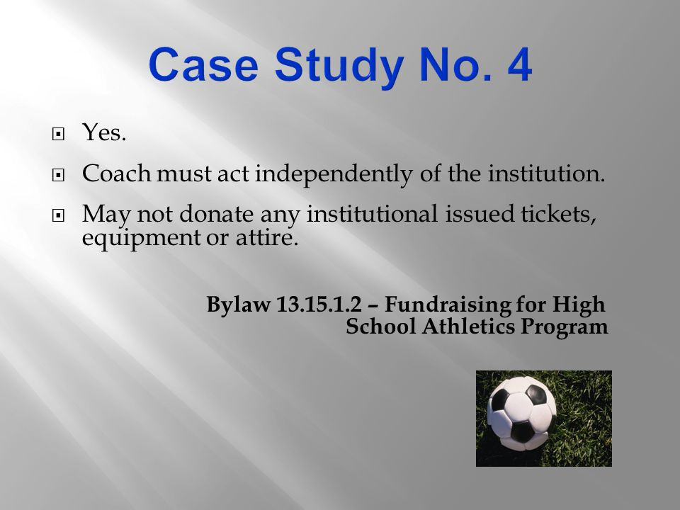  Yes.  Coach must act independently of the institution.