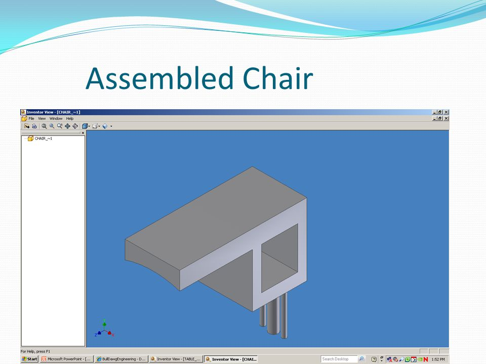 Assembled Chair