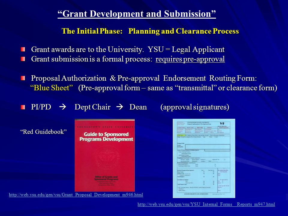 The Submission Process: Notice of Intent (NOI) – send email to us.
