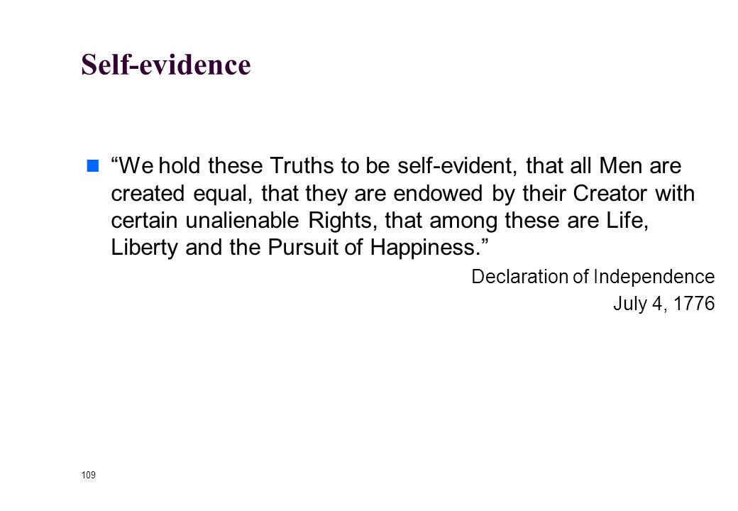 108 Justifications for Rights Self-evidence Divine Foundation Natural Law Human Nature
