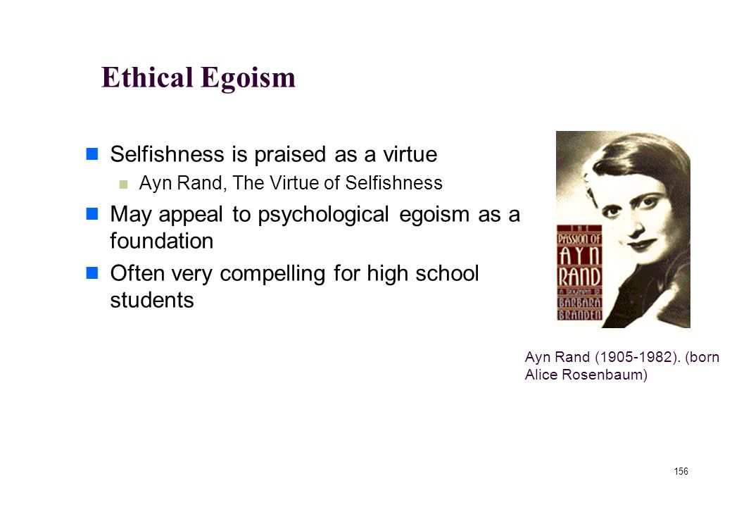 155 Ethical Egoism