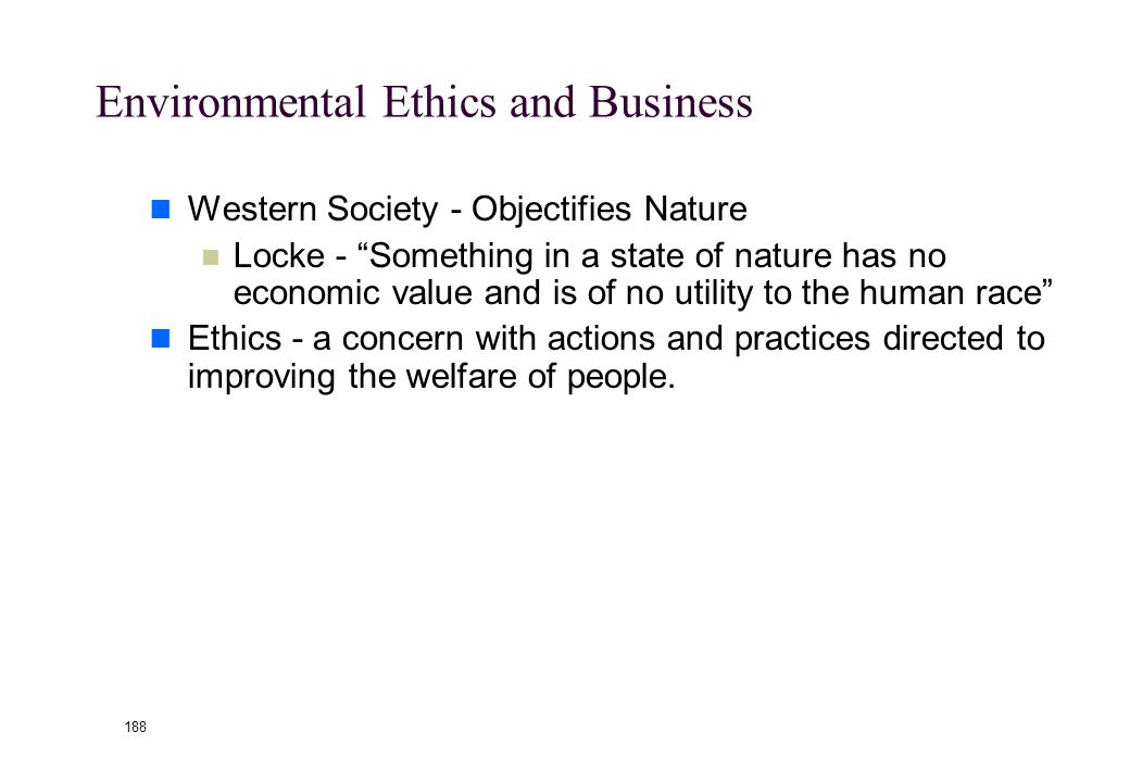 187 Global Environmental Ethics