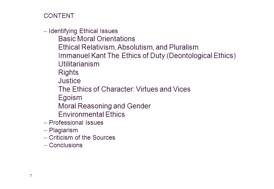 57 Ethical Pluralism (4) Ethical pluralism offers three categories to describe actions: Prohibited: those actions which are not seen as permissible at all Absolutism sees the importance of this Tolerated: those actions and values in which legitimate differences are possible Relativism sees the importance of this Ideal: a moral vision of what the ideal society would be like