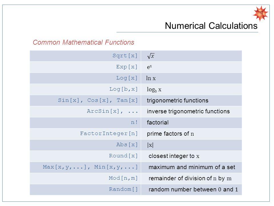 Data Visualization Basic Statistics Plots Bar Chart, PieChart, BubbleChart Histogram, SmoothHistogram, Density Histogram, Histogram3D QuantilePlot, ProbabilityPlot, ProbabilityScalePlot BoxWhiskerChart, DistributionChart