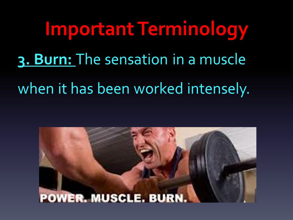 20.Delayed Onset Muscle Soreness  A temporary pain casied from the tearing of the muscle fibers.