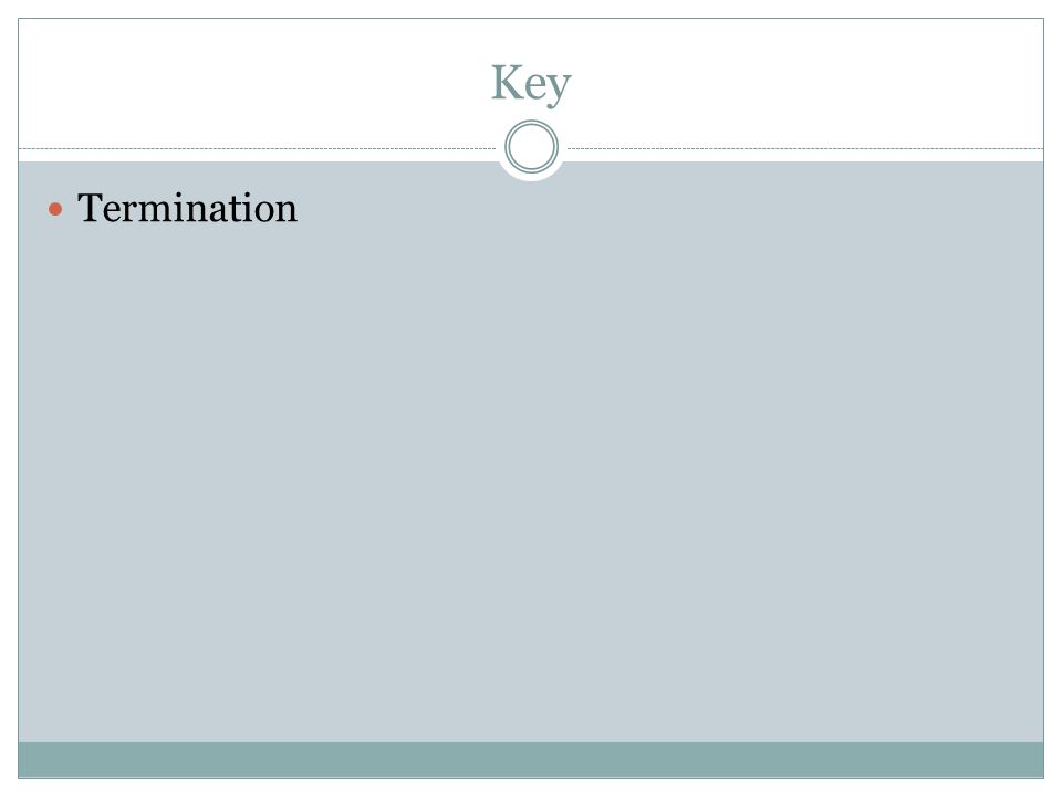 Key Termination