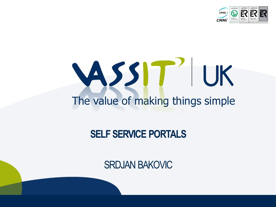 SELF SERVICE PORTALS SRDJAN BAKOVIC