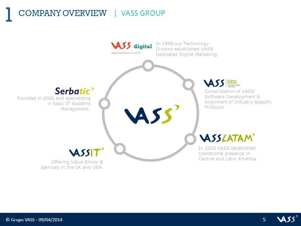© Grupo VASS · 09/04/2014 6 COMPANY OVERVIEW 1 | VASS GROUP MADRID Avda.