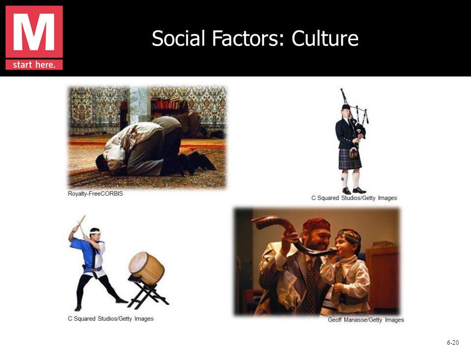 6-20 Social Factors: Culture