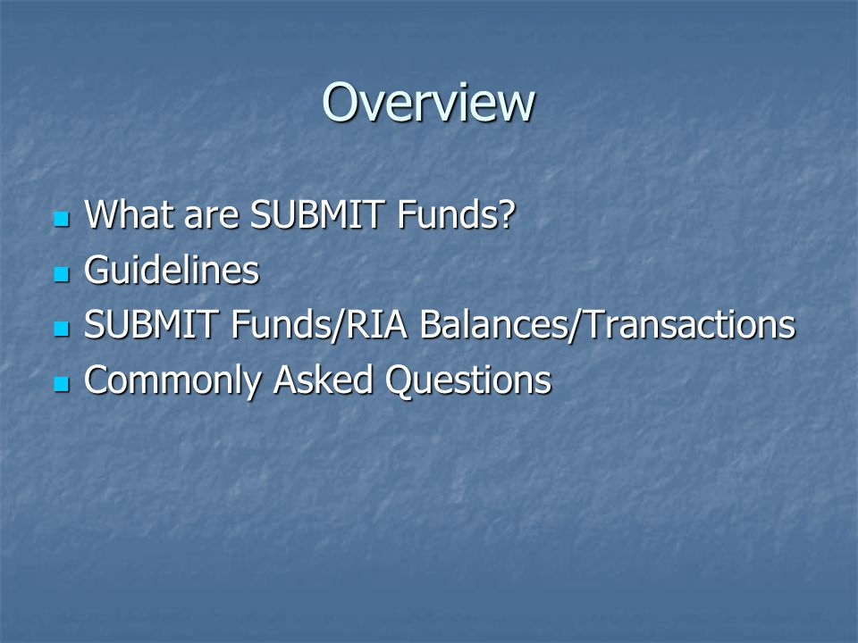 Q: What happens to SUBMIT funds if I move to a different department within the University.